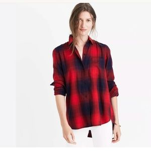 Madewell Classic Plaid Button Shirt